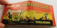 Headin' For Harolds Club Reno Nevada Full Unstruck Vintage Matchbook Ad