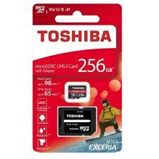 Toshiba Exceria M303 256G UHS I U3 MicroSD microSDXC Flash Card TF with Adaptor