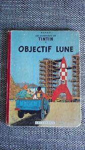 TINTIN OBJECTIF LUNE B8 1953 EO BELGE