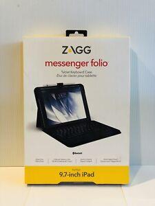 ZAGG Messenger Folio Tablet Keyboard Case 9.7-inch iPad Black Ultra Slim