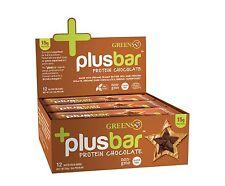 Greens Plus +PlusBar Protein Bars Box Chocolate 2 oz Per Bar - 12 Bars Box