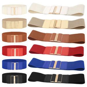 Women Wide Elastic Waist Belt Fashion Waistband Dress Girl Stretchy Cinch Belts