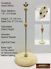 M01075 Morezmore Sculpting Doll Head Armature Stand Thin Medium 1:6 - 1:2 A60