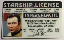 William Shatner - Captain Kirk -Intergalactic Starship License - Star Trek