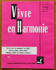 Vivre en Harmonie N°261 de 1975 ✤ Dextreit ✤ La campagne / Plantes à tisanes...