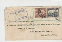 South Africa 1933 to london england airmail stamps cover ref 21790