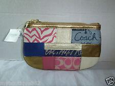 COACH F45653 patchwork flat wristlet new nwt