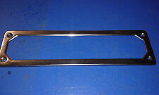 FIAT 500 CORNICE TARGA VECCHIO TIPO ANTERIORE ACCIAIO INOX COD.24/2