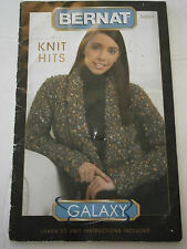 Bernat Knit Hits Pattern Learn To Knit Swing Coat Cable Pullover Booklet 542004