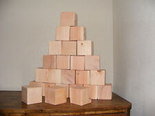 3 Inch Natural Wood Building Block / Cube 3 Inch Size Qty 60 Made in USA
