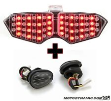 03-05 Yamaha R6 Sequential CLEAR LED Tail Light + Flush Mount Turn Signals Combo