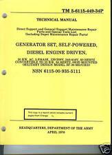 Generator Set, 30 KW, Mil Model SF-30-MD/CIED, Parts