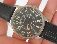 Rare Men FLIEGER Military 24-Hrs Hand Winding Wrist Watch GERMANY @ NEW