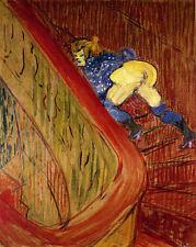 Henri Toulouse Lautrec  Dans l'excalier de la rue des Moulins - 24'  CANVAS