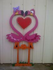 PINK FLAMINGOS COUPLE --Valentine Sweetheart Spring Yard Art