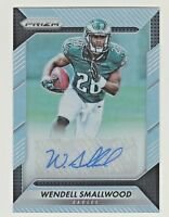 2016 Panini Prizm ROOKIE AUTOGRAPH SILVER REFRACTOR WENDELL SMALLWOOD RC AUTO