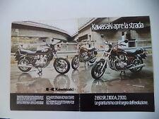 advertising Pubblicità 1982 MOTO KAWASAKI Z1300 Z 1300/Z 650 SR/Z1100 Z 1100 A