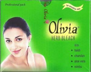 Olivia Herb Bleach Natural Herbal Creme Cream Bleach 60GM Free Ship