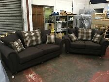 """NEW 2018 BARCELONA 3&2 SEATER SOFAS"""" BROWN"""" ALSO AVAILABLE IN OTHER COLOURS"""