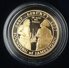 2007 W Jamestown PROOF $5 Gold Commemorative Coin w/box & COA