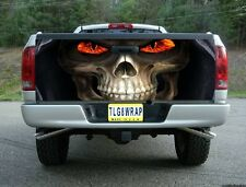 T16 GRIM REAPER SKULL FIRE EYES TAILGATE WRAP Vinyl Graphic Decal Sticker Tint
