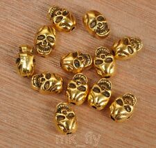 10pcs Tibetan Silver antique gold skull beads spacer bead 10x7mm FA3454