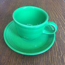 1 Fiesta Fiestaware Shamrock Green Tea Cup and Saucer