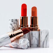 Waterproof Marble Design Matte Lipstick Lasting Moisturizing Lip Gloss Makeup