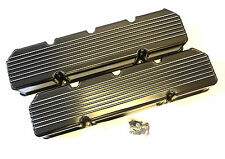AMC/Jeep 290-401 Finned Fabricated Valve Covers Black