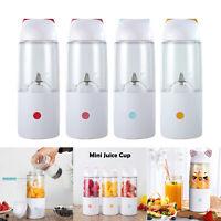 400ml Portable Juicer USB Rechargeable Smoothie Blender Milk Mixer Juice Machine