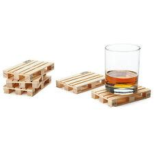 Palettes en bois pour dessous de verre - 4 Pièces / Set - Vin & Alcool - Design