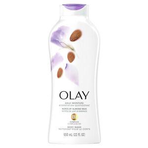 Olay Daily Moisture Body Wash with Almond Milk & B3 Complex, 22 fl oz - LOT OF 2