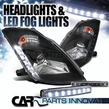 "Fit 03-05 Nissan 350Z Z33 Fairlady Black ""HID"" Projector Headlights+LED Fog Lamp"