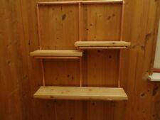 Copper pipe shelf unit