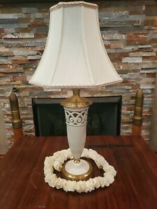 Quoizel Table Lamp Brass With Lenox Porcelain Body + Shade