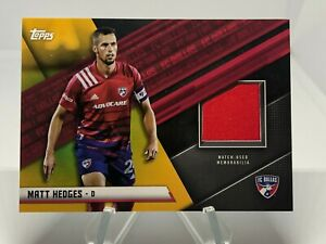 2021 Topps MLS Matt Hedges Jersey Gold Relic - FC Dallas /50  #JR-MH