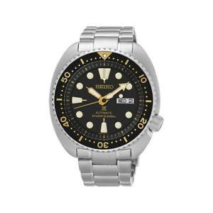 Seiko Black with Gold Turtle Prospex Diver's Men's Watch