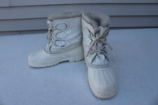 SOREL RAM SNOW BOOTS WHITE WATERPROOF WOMENS SIZE 6 MADE IN CANADA WINTER