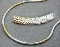 925 ECHT SILBER *** Schlangenkette Armband Armkette vergoldet 19 cm