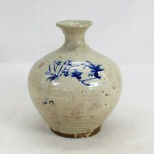 B563: Real old Korean blue-and-white porcelain bottle of Joseon-Dynasty age