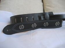 LEATHER BLACK DOLLAR CONCHO BASS, ACOUSTIC GUITAR STRAP