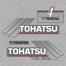 Tohatsu 4HP Two Stroke Outboard Engine Decals Sticker Set reproduction 4 HP