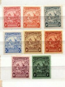 A very nice Barbados group of 8 unused issues