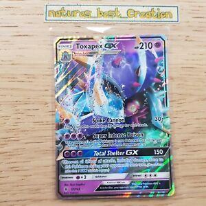 MINT/NM Condition Toxapex GX 57/145 Holo/Shiny Pokemon Card, Sun & Moom