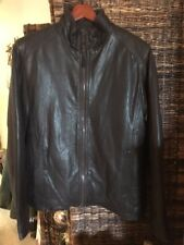 ANDREW MARC BROWN Leather Jacket Mens MEDIUM CUIR Leather Retail $450 NEW YORK