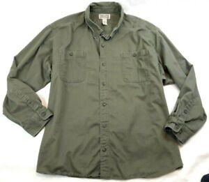 Everyday Twill Long Sleeve Work Shirt Fatigue Green 4XL FOM Gusseted Underarm