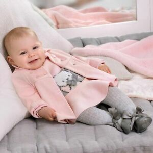 Mayoral baby girls fully lined pink winter coat 18 months (2466)