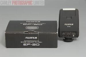 Fuji EF-20 Shoe Mount TTL Flash For X100 etc. Boxed. Graded: LN [#9222]
