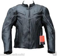 CE ARMOURED Cowhide Leather Motorcycle Motorbike Racing Jacket