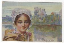 Coiffe du Berri Berry Woman Hat Cap France 1916 postcard